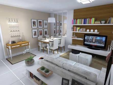 Resultado de imagem para sala dois ambientes comprida