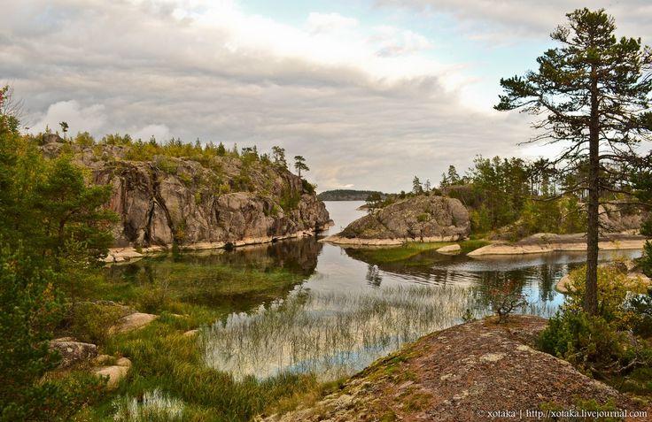 Ladoga lake. Russia