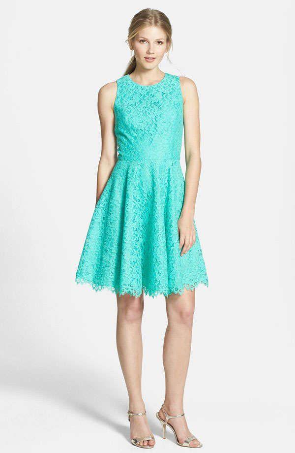 Aqua color dress bridesmaids