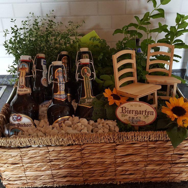 #Geburtstagsgeschenk #Biergarten #Geschenk #Bierflaschen #Kräutergarten – Manuela Bichlmaier