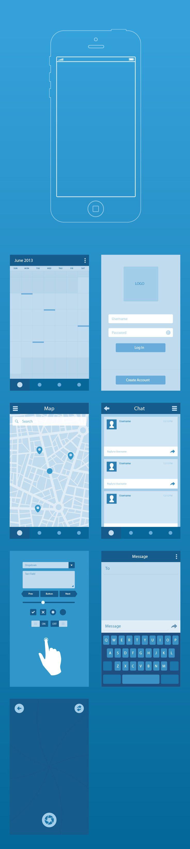 Get your design freebie -  UI8 Wireframe Kit #template #uikit #vector #ai #freebies #uidesign