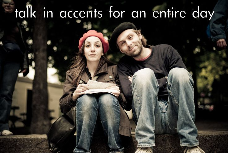 """The Couples Bucket List You'll Actually Want To Do... This makes me laugh """"accent for a day"""""""