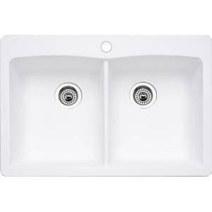 white undermount kitchen sink