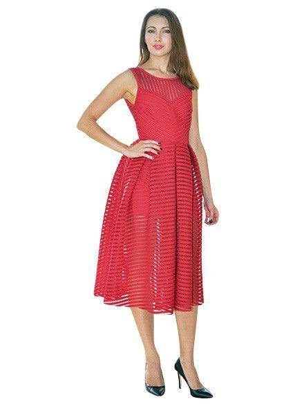 Crochet zip up dress