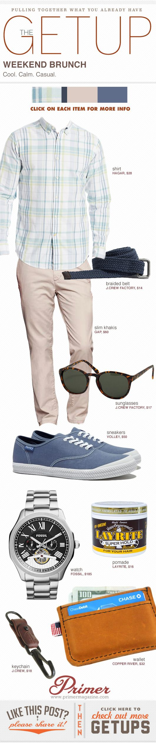 The Getup: Weekend Brunch #casual #menstyle #menswear