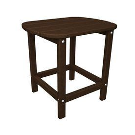 Polywood South Beach 15-In W X 19-In L Oval Plastic End Table Sbt18ma