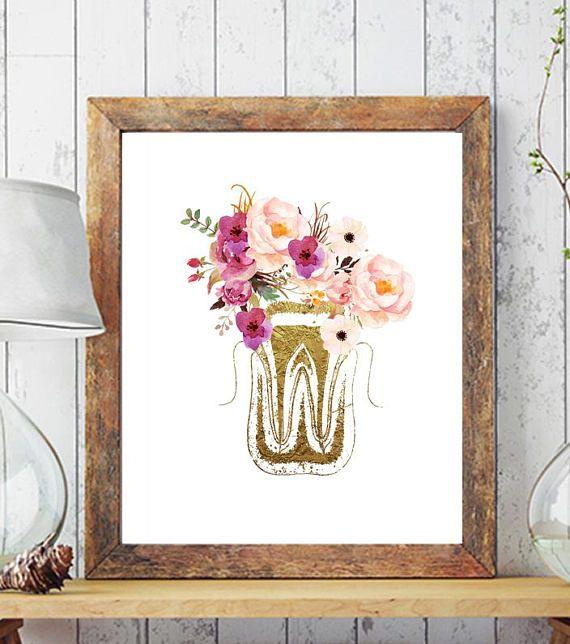 Merveilleux Dental Art Printable, Dentist Gift, Dentist Office Decor, Tooth Art, Dental  Anatomy, Dental Office Wall Decor, Dental Hygienist Gift Perfect For  Stylish ...