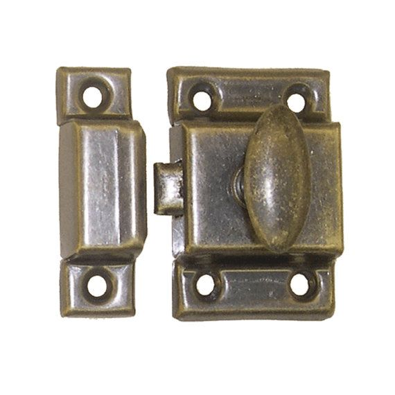 Antique brass cupboard latch and catch with screws, new wood working, 2  sizes available - 2357 Best Hardware & Furniture Parts Images On Pinterest Drawers