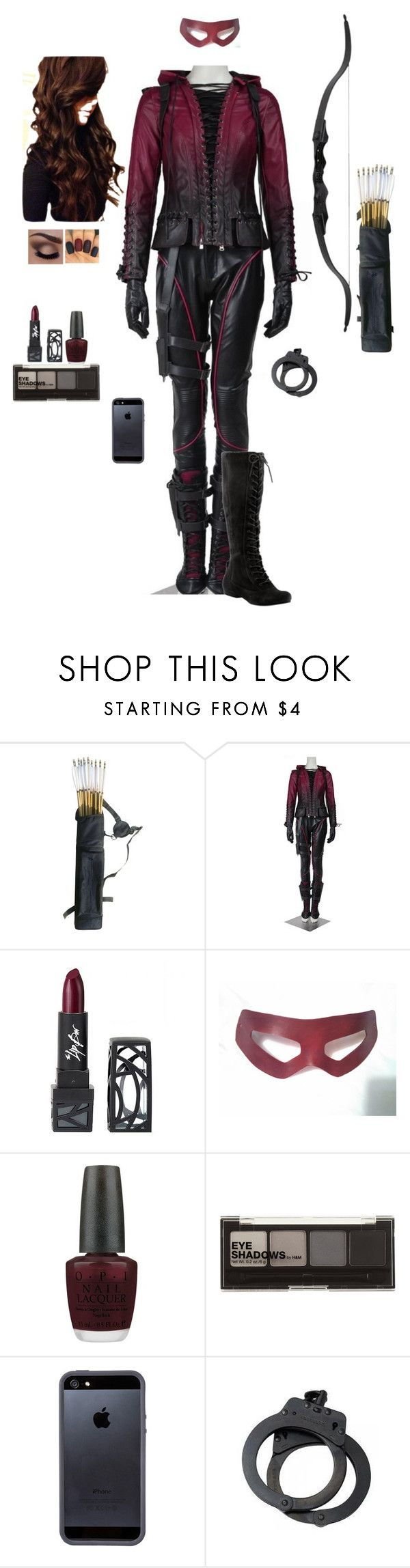 """""""Assassin In The Street"""" by gone-girl ❤ liked on Polyvore featuring Nine West, The Lip Bar, OPI, H&M and Tavik Swimwear"""