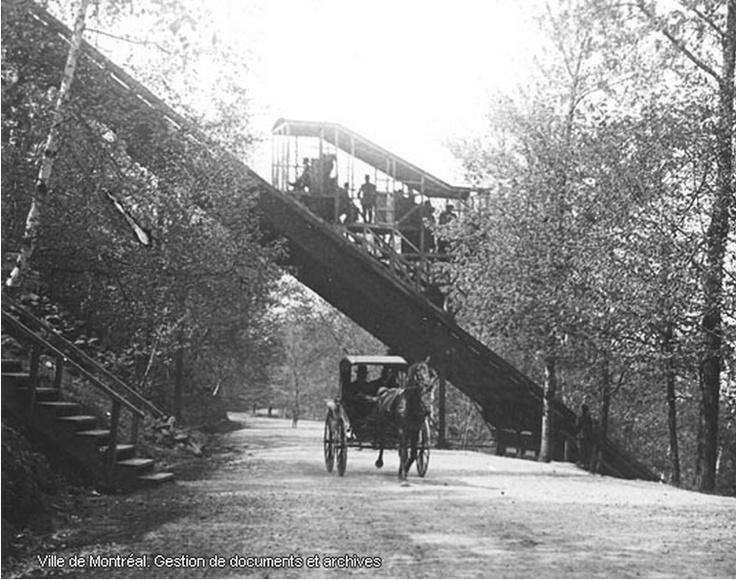 Le funiculaire du Mont-Royal, 1885-1918.  Maintenant, on monte les marches pour se garder en forme!