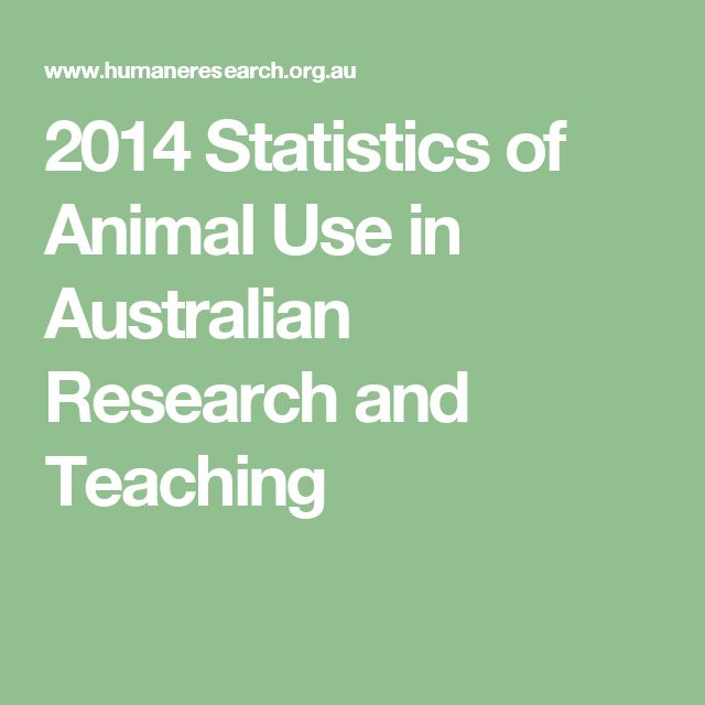 2014 Statistics of Animal Use in Australian Research and Teaching