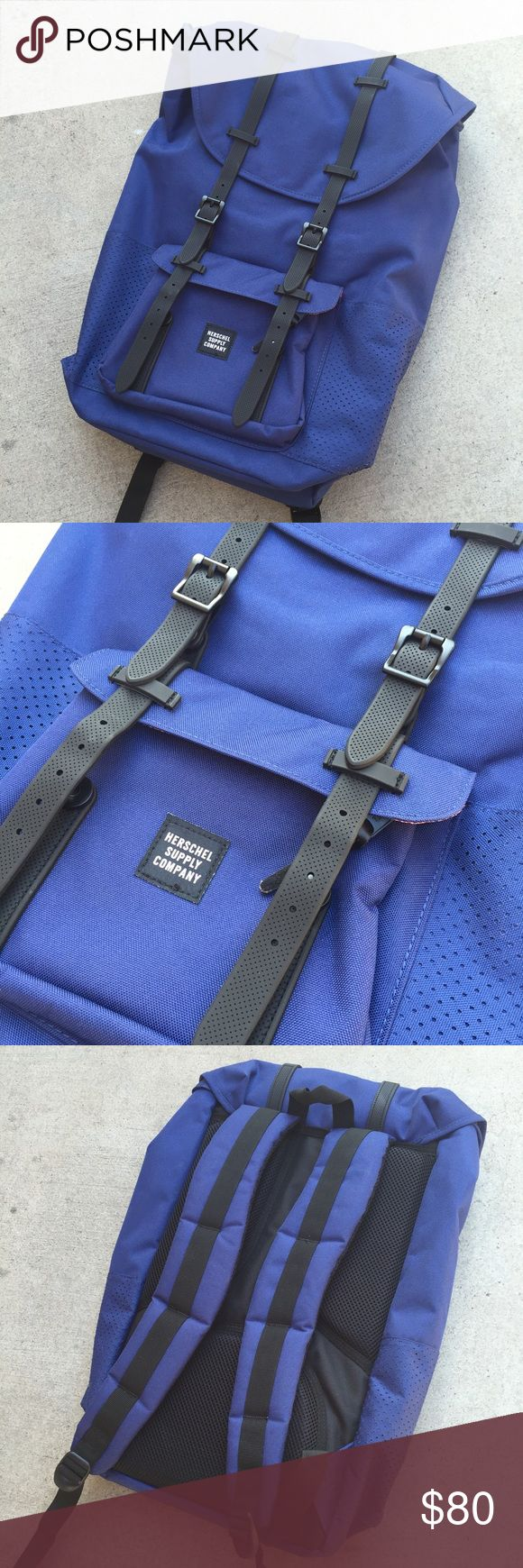 Herschel Supply Company Backpack New Blue Herschel Company Backpack. Missing buckle on the bottom buckles. No trades. Herschel Supply Company Bags Backpacks
