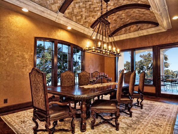 horseshoe bay mediterranean dining room by zbranek holt custom homes horseshoe bay and austin custom home builder