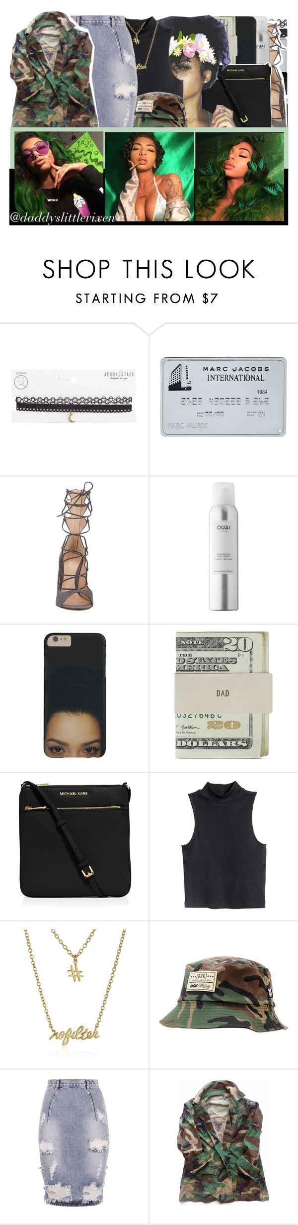 """""""🌐 hit the blunt then hit you up 🌐"""" by daddyslittlevixen ❤ liked on Polyvore featuring Aéropostale, Gianvito Rossi, Ouai, Jack Spade, MICHAEL Michael Kors, H&M, Gorjana, DGK and OneTeaspoon"""