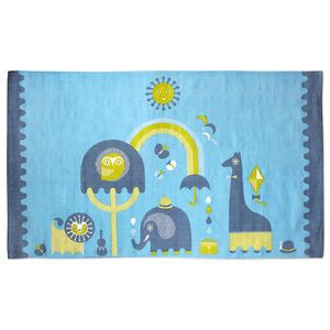 Start With Style.Tie Junior's room together with our printed cotton animal rug. Soft enough to play atop of, but woven for strength and durability.