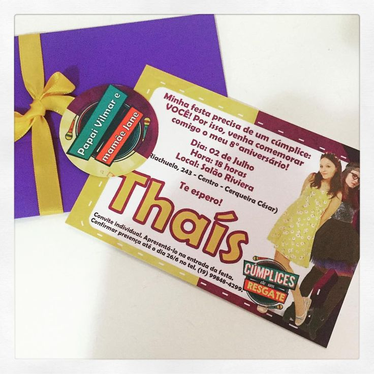 No final de semana foi a festa da Thais, filha da Jane e do Vilmar. Cliente fiel vem de Cerqueira César para fazer os convites e lembrancinhas com a gente. Obrigada pela confiança de sempre, Jane! #cumplicesdeumresgate #festamenina #personalizados #ratchimbum #novaodessa