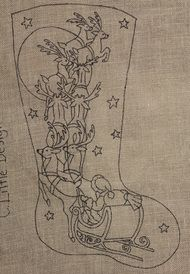 Santa stocking - great design by Christine Little from Encompassing Designs