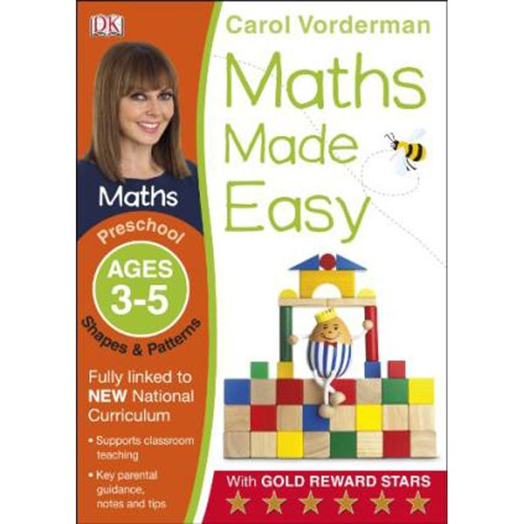 Buy Maths Made Easy Shapes And Patterns Preschool Ages 3-5 by Carol Vorderman online from The Works. Visit now to browse our huge range of products at great prices.