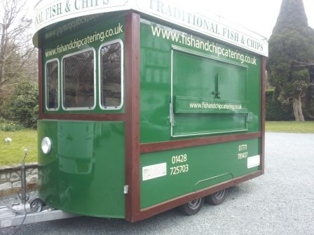 This Is The Fish And Chip Tram That Catering Our Wedding Breakfast