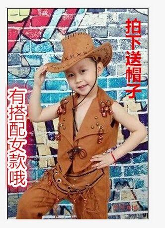 Trajes de baile de jazz para las niñas 4 colores 7 tamaños B018 vaquero niño de traje de rendimiento vaquero del oeste danza traje de la danza jazz ropa en Salón de Novedad y de uso especial en AliExpress.com   Alibaba Group
