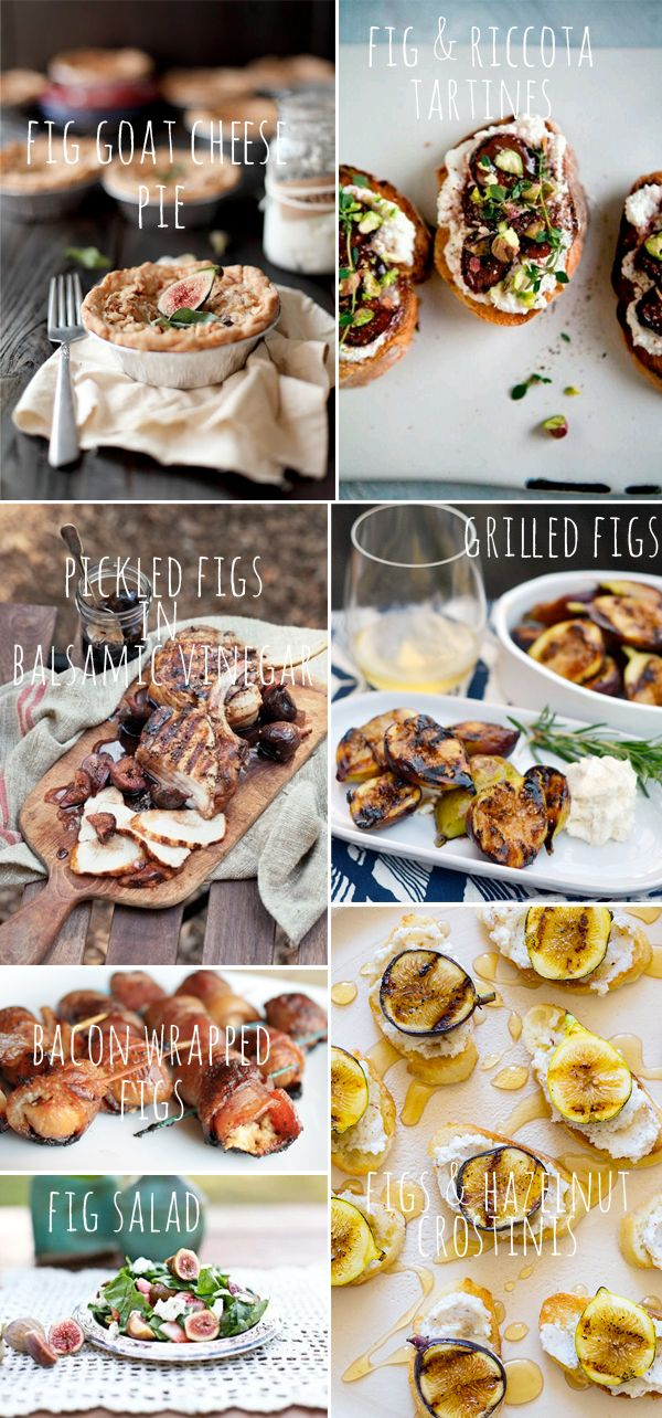 """ON THE TABLE :: FIGS"" -- Click through to ""Fluxi On Tour"" for this delicious-looking compilation of photos, with links to the original recipes shown."