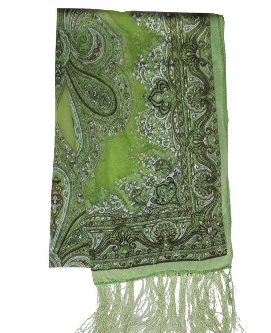 Hodvábna šatka Noblesa zelená|hodvábne šatky|kašmírové šále|prikrývky na postel|outlet|hodváb|kašmír|prehozy na postel|šatka|šál|šatky