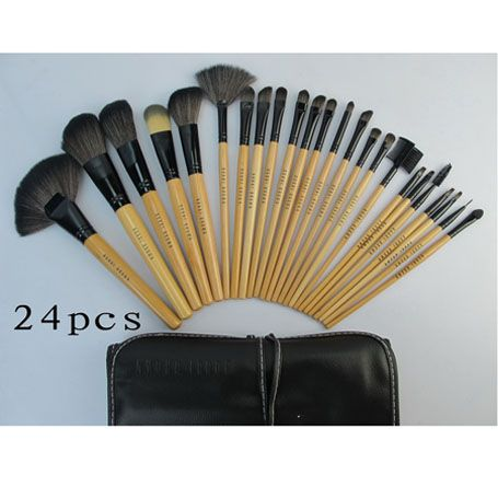 bobbi brown brushes set 24 pcs with black pouch