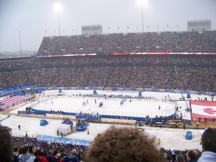 Ralph Wilson Stadium, Buffalo, NY...2008 Winter Classic.  Epic.
