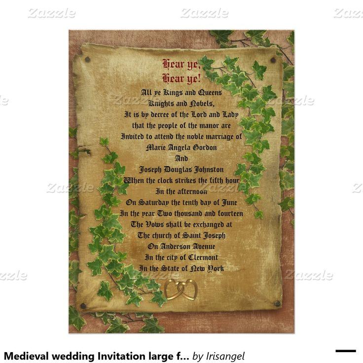 avery address labels wedding invitations%0A Medieval wedding Invitation large format