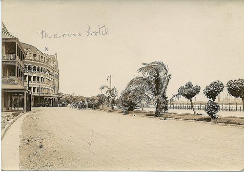 1915c Marine Hotel, Esplanade, Durban - the writing on this picture was made before photographs were sent to England in the 1910s or therabouts.