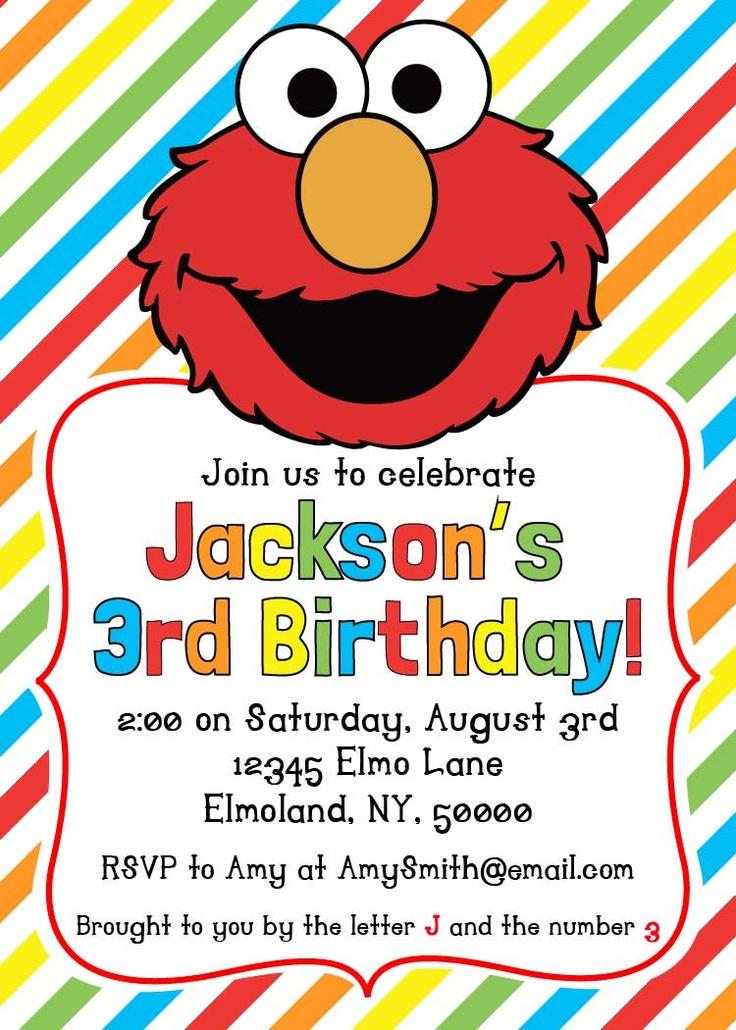 c7df65027d4b61ec7ae1eca5e36ff00e elmo party birthday party invitations 33 best sesame street party ideas images on pinterest,Elmo Invitations Etsy