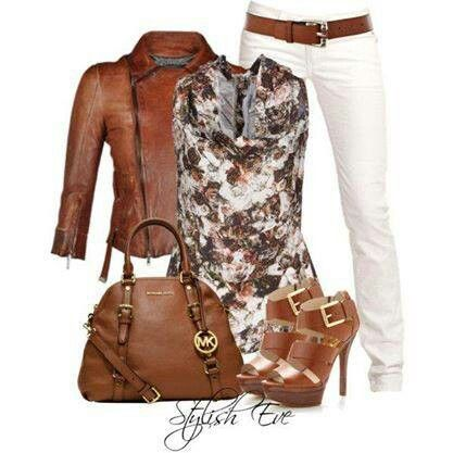 Brown and floral