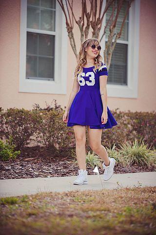 Vestido College Azul (look!) (Taciele Alcolea)