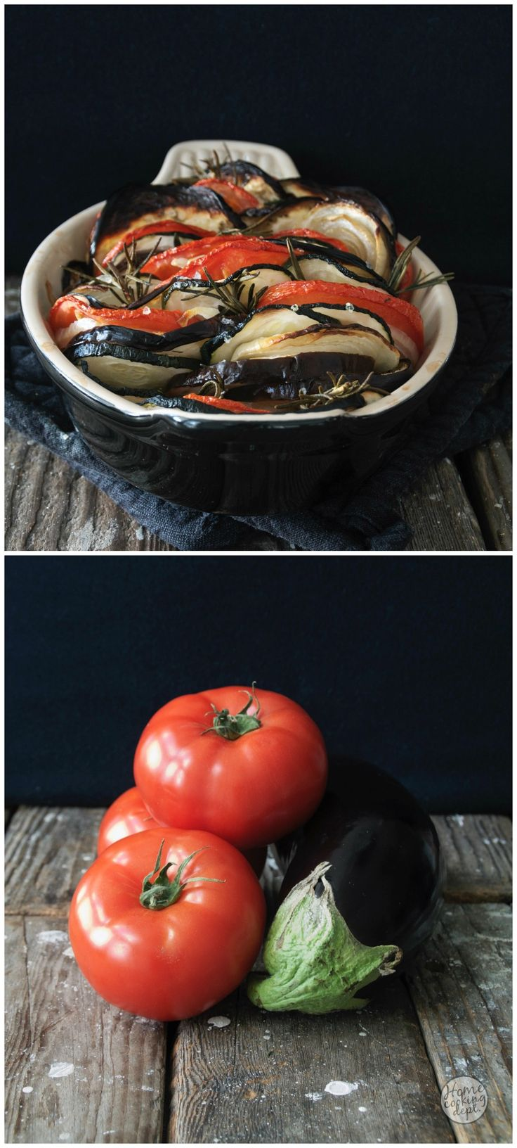 Classic French Food Recipe! Provençal Tian with zucchini and eggplant - Groenten tian provencal / Homecooking dept.