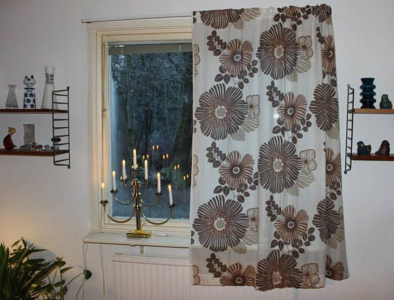 Lovely vintage retro 70s pair of white Curtain lengths with
