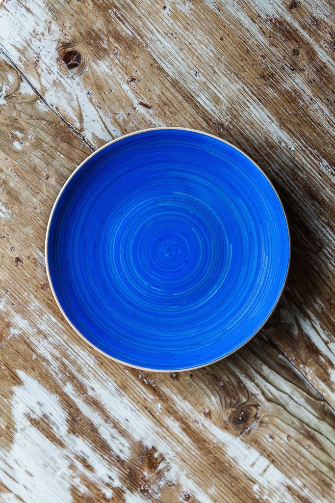 Arcobaleno #colorful #blue side plates. Made in Italy.   Also available in Orange, Red, Light Green, Purple, or Teal  Available at http://www.dishesonly.com/products/arcobaleno-side-plate
