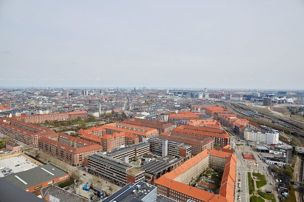 View over 'Vesterbro' from 'Bohrs Tårn'
