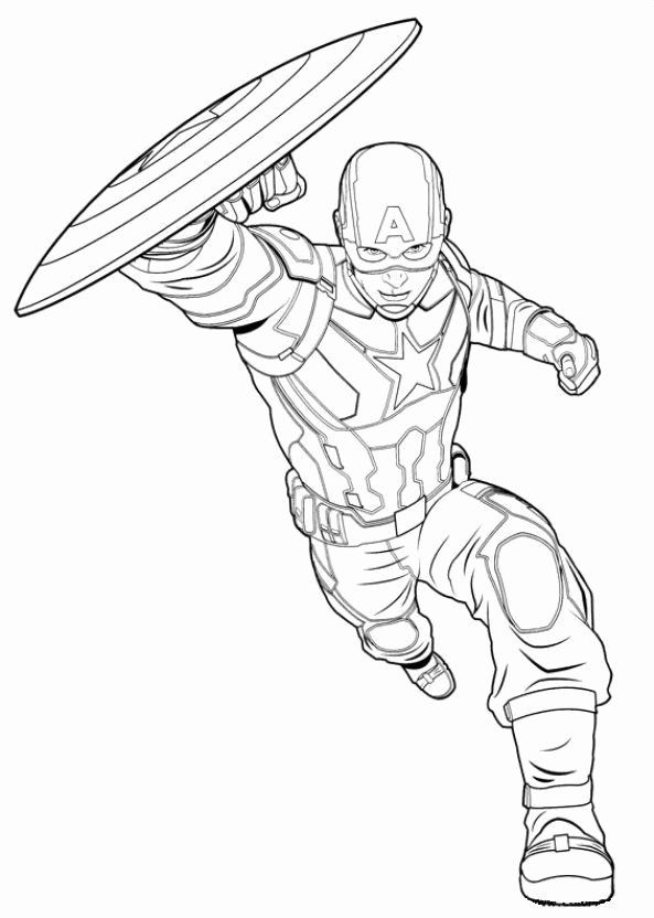 Captain America Coloring Sheet Unique Coloring Page Captain America Civil War Captain Captain America Coloring Pages Avengers Coloring Pages Avengers Coloring