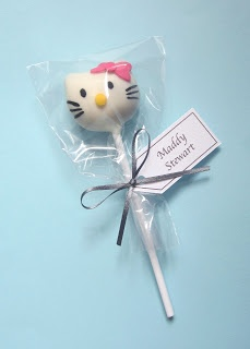 hello kitty cake pop guest favors