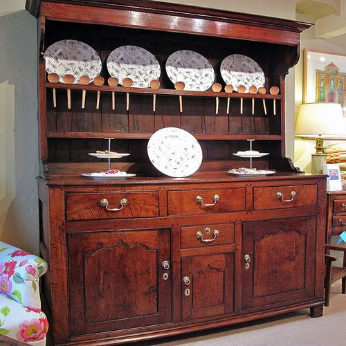 Antique A Late 18th C Oak Welsh Dresser