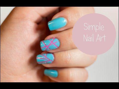 Дизайн ногтей с лентой   Nail art - YouTube