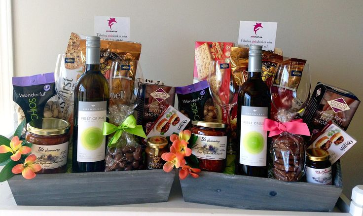 GORGEOUS GIFT BASKETS --- by pinkshark,ca http://www.pinkshark.ca/