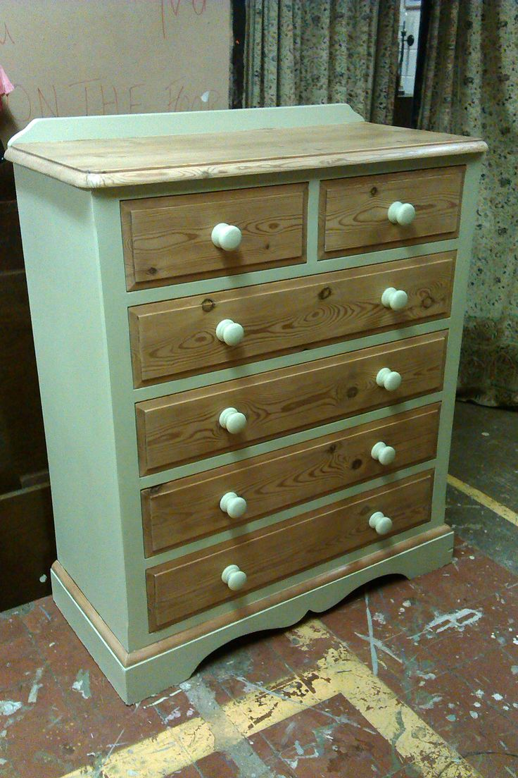 Upcycled solid pine chest of drawers