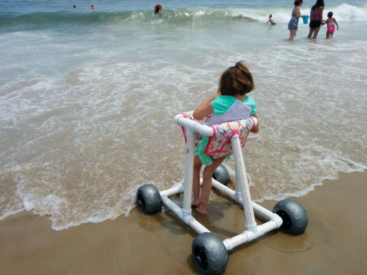 Help kids play on the beach! create a walker that will help mobility challenged children move freely in the sand & play at the waters edge, like their typical counterparts!