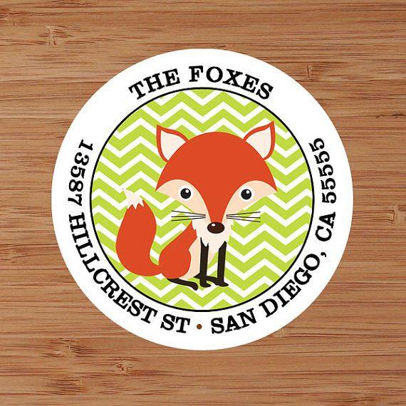Mister Fox  Fall Autumn Custom Address Labels by PoshGirlBoutique