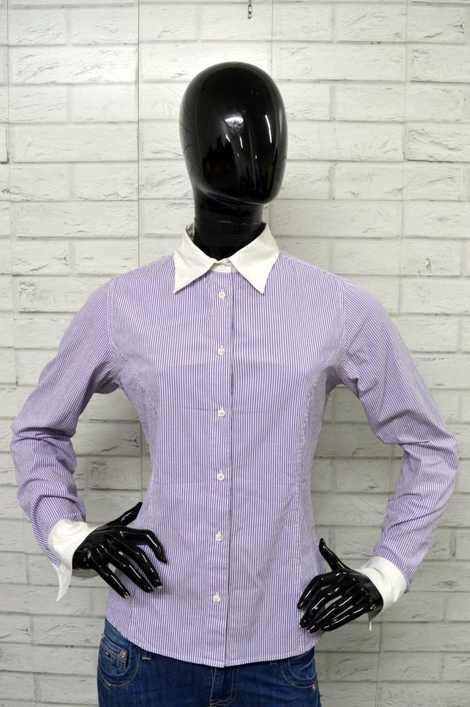 Manica Shirt Donna Maglia Camicia Con Lunga Taglia M Jeckerson Woman 0BHqw7C