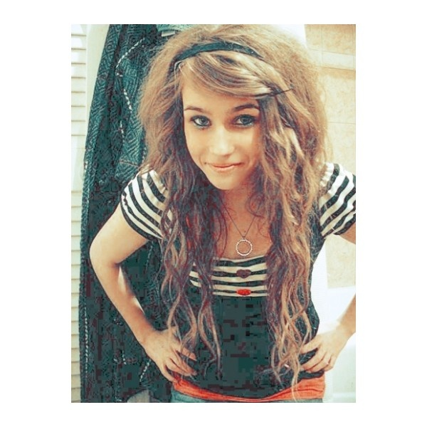 i need some curly scene hair ideas ❤ liked on Polyvore