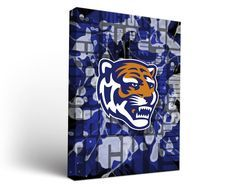 Memphis Tigers Fight Song Art Print on Canvas Rectangle