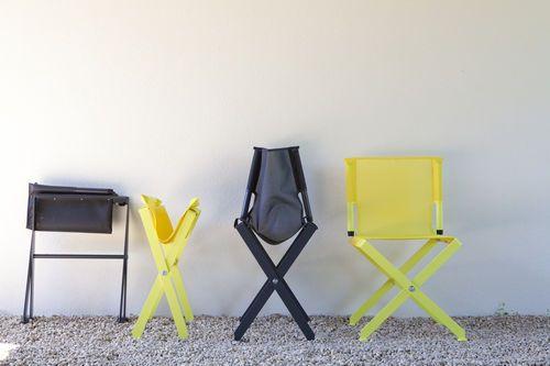Director's chair / contemporary / folding / Batyline® ZEPHIR by Luc Jozancy Matière Grise