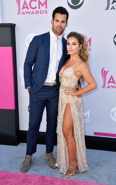NFL player Eric Decker and singer Jessie James Decker attend the 52nd Academy of Country Music Awards.